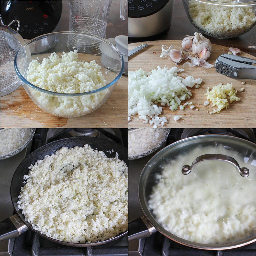 blender cauliflower rice method
