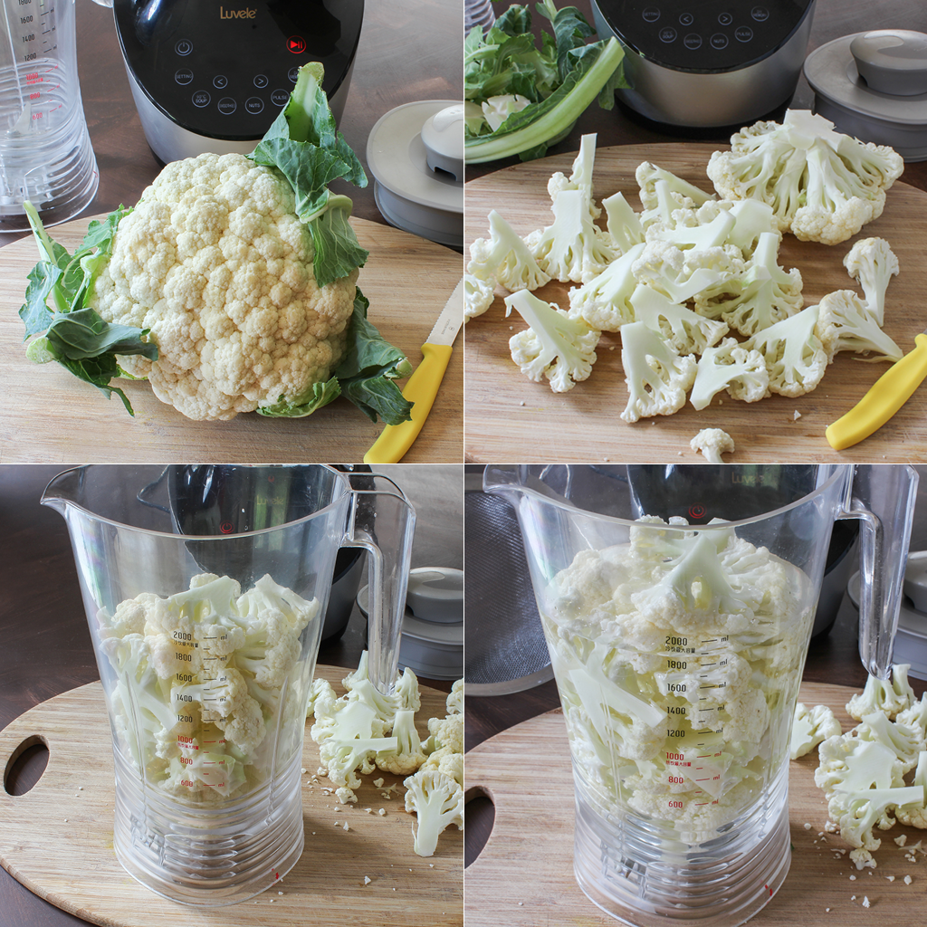 Perfect Cauliflower rice made in a blender Luvele UK