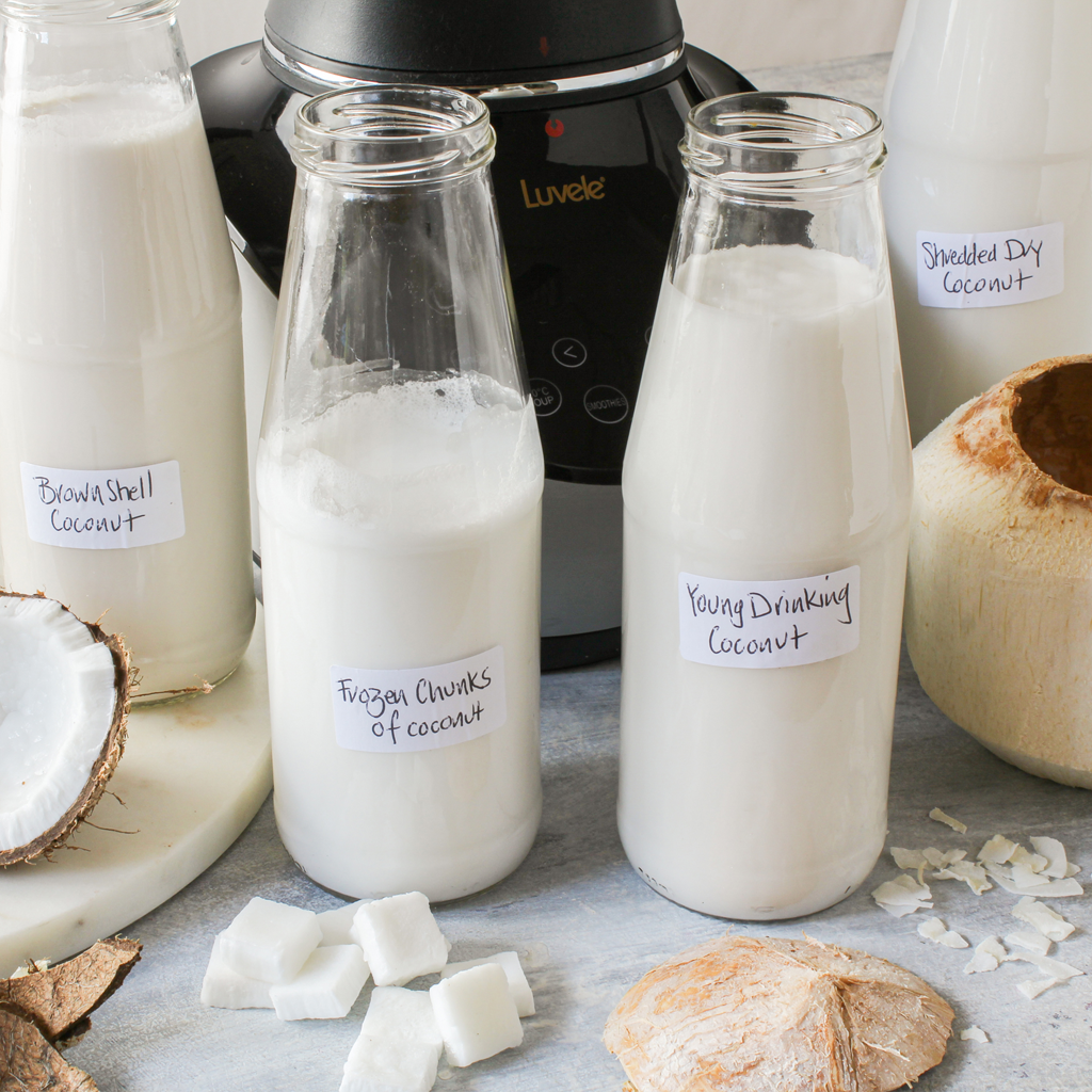 How to make coconut milk 4 ways