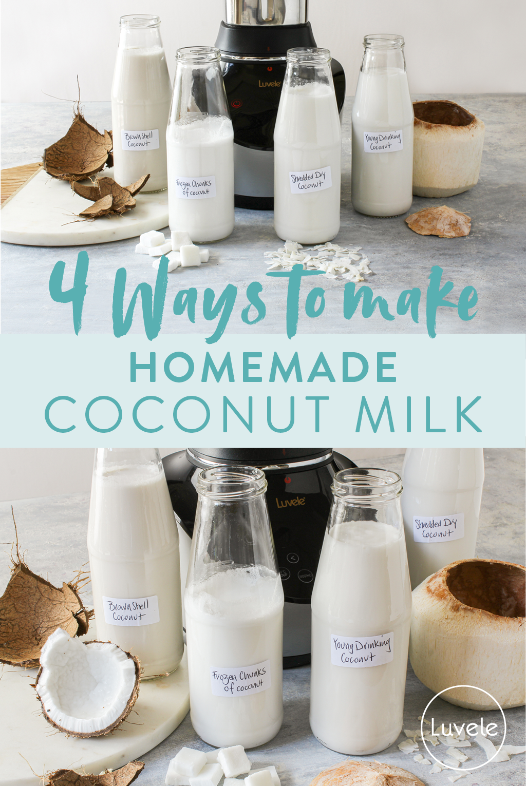 How to make coconut milk 4 ways - Pinterest