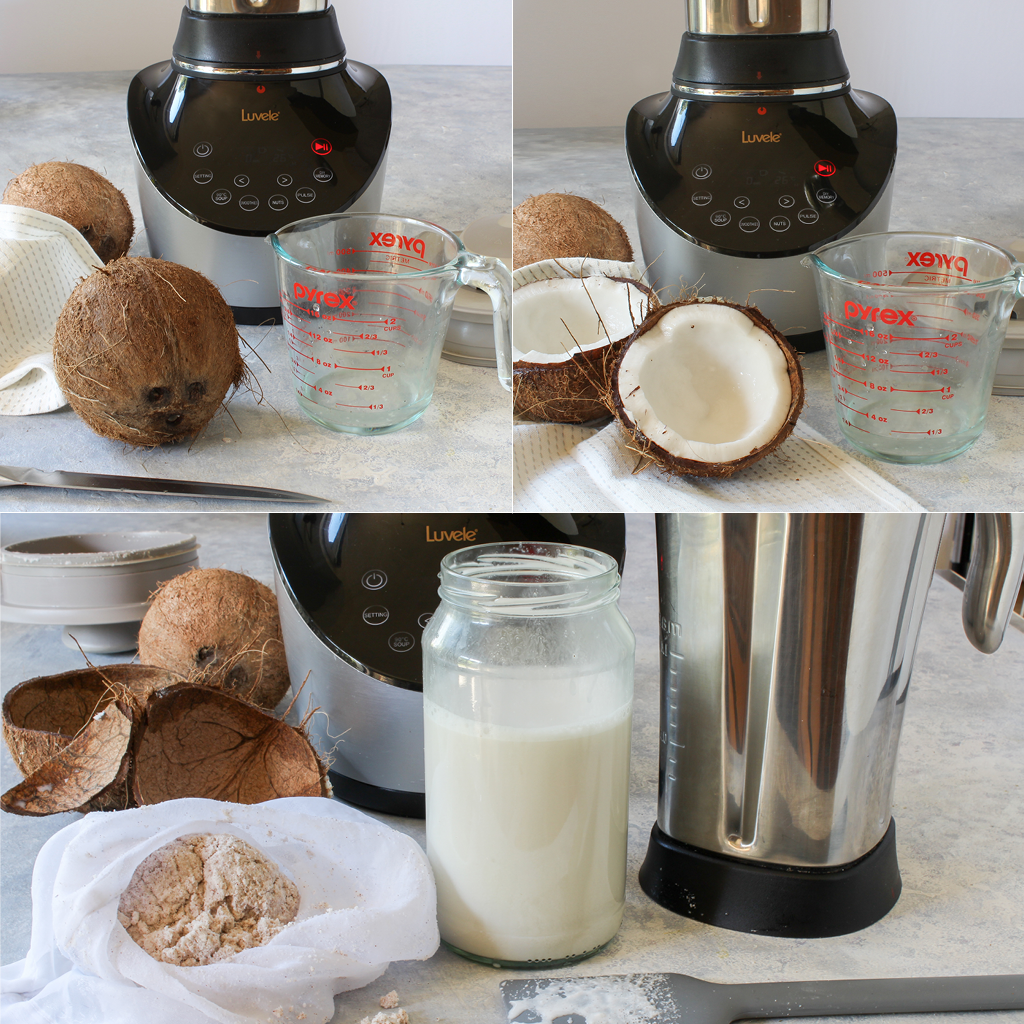 coconut milk using brown coconuts