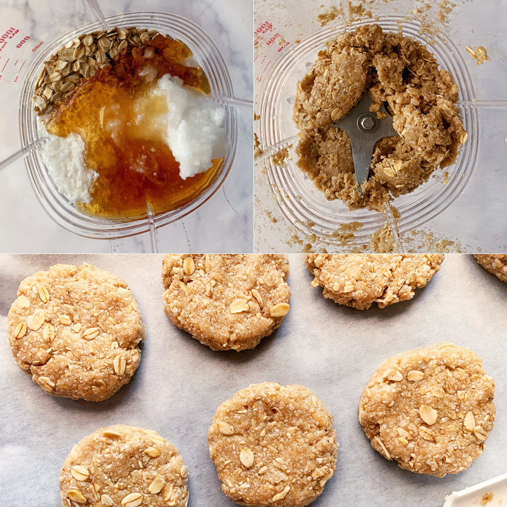 coconut oat cookies steps