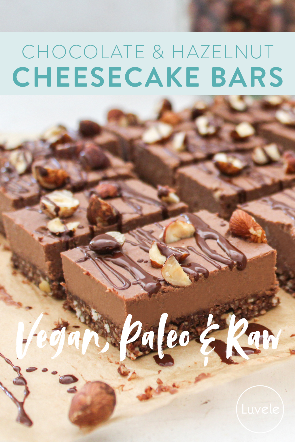 chocolate & hazelnut cheesecake bars