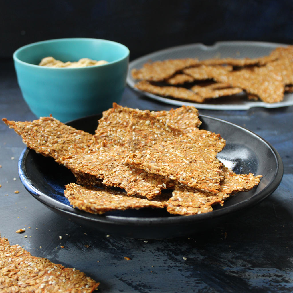 Golden Flaxseed and Carrot Crackers