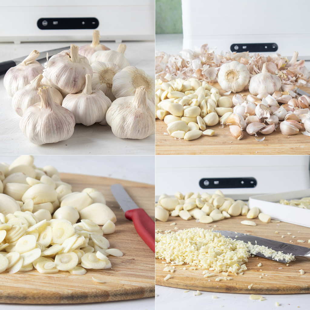 how to dehydrated garlic