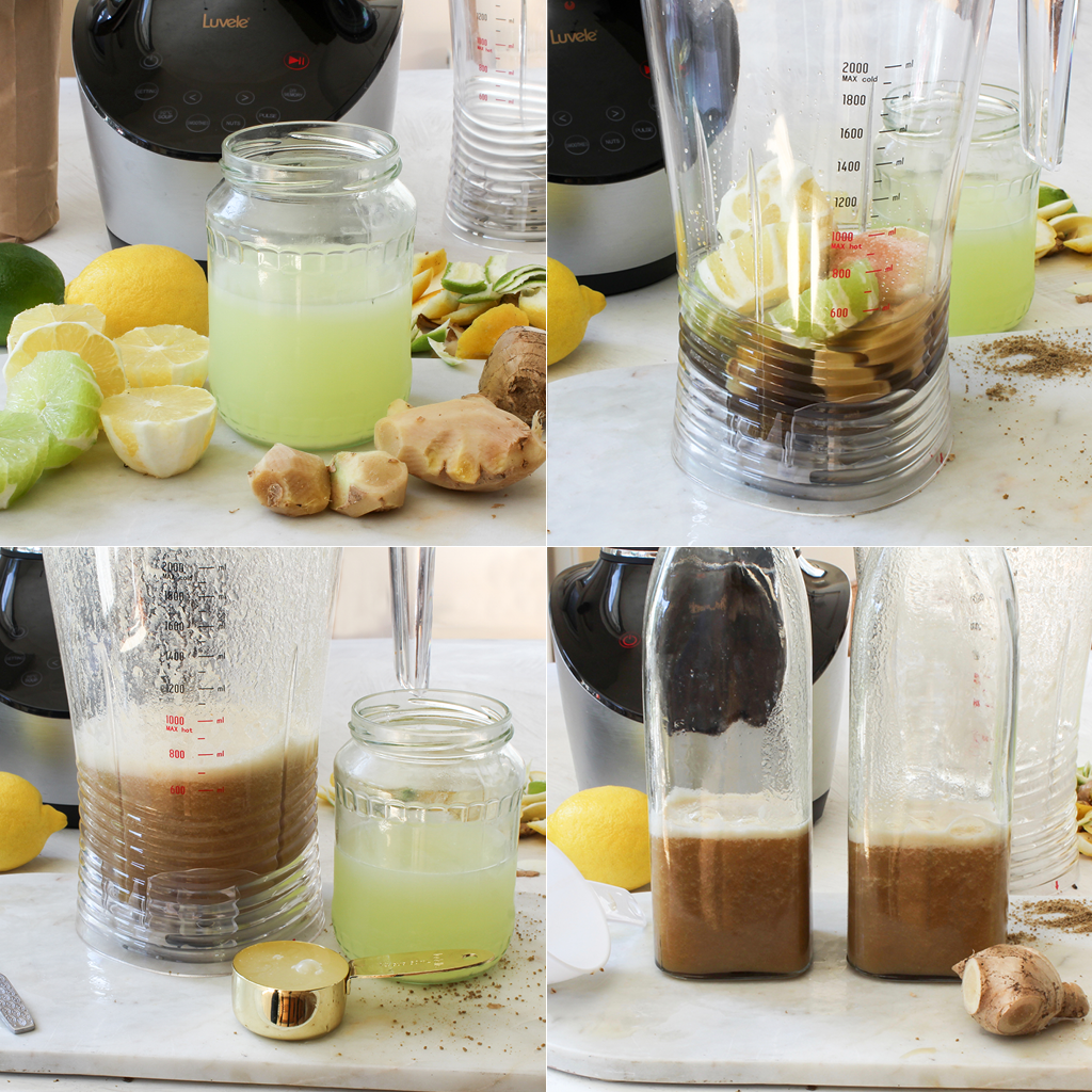 homemade ginger ale step by step
