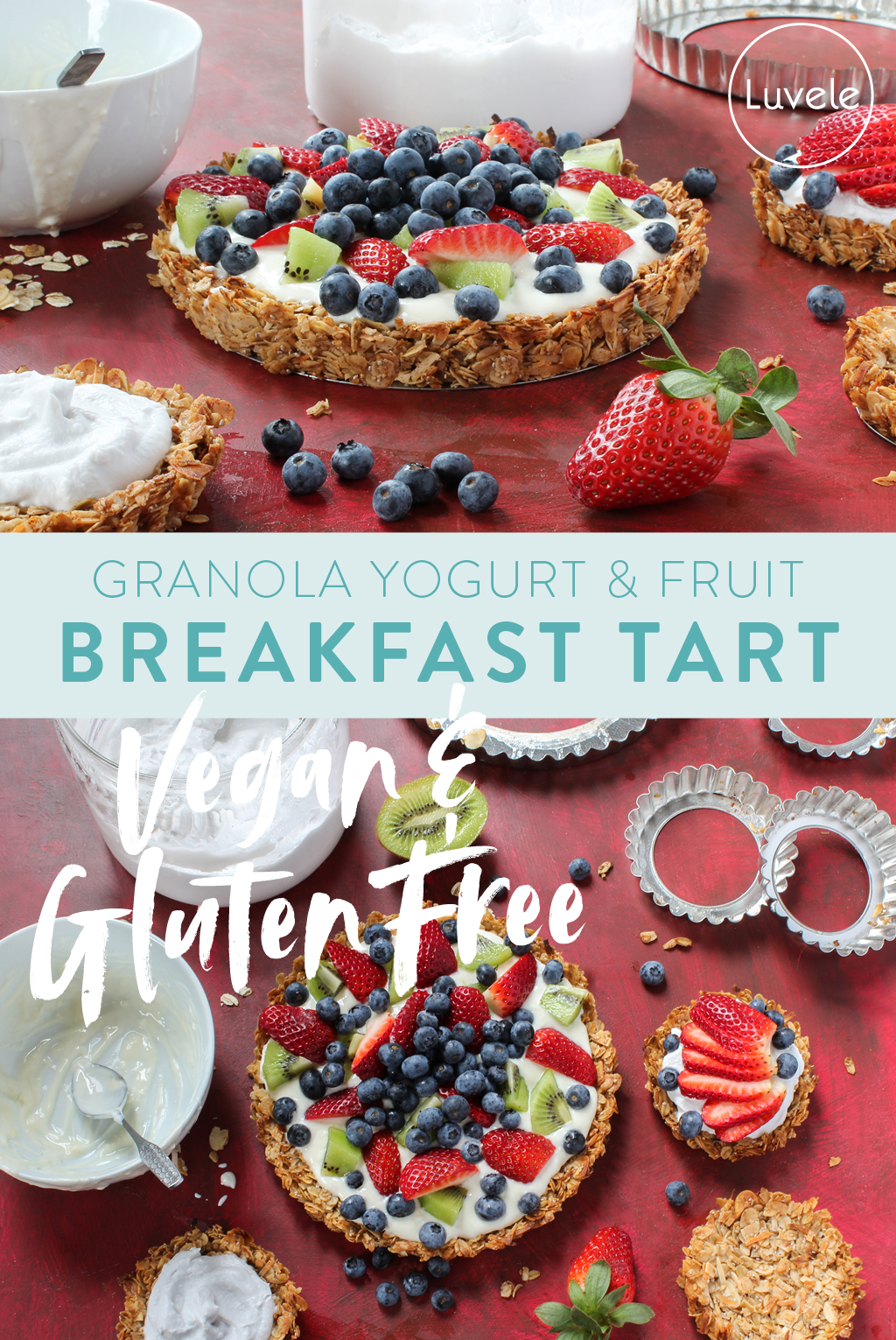 granola yogurt fruit tart