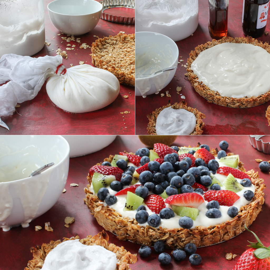 grail yogurt fruit tart steps