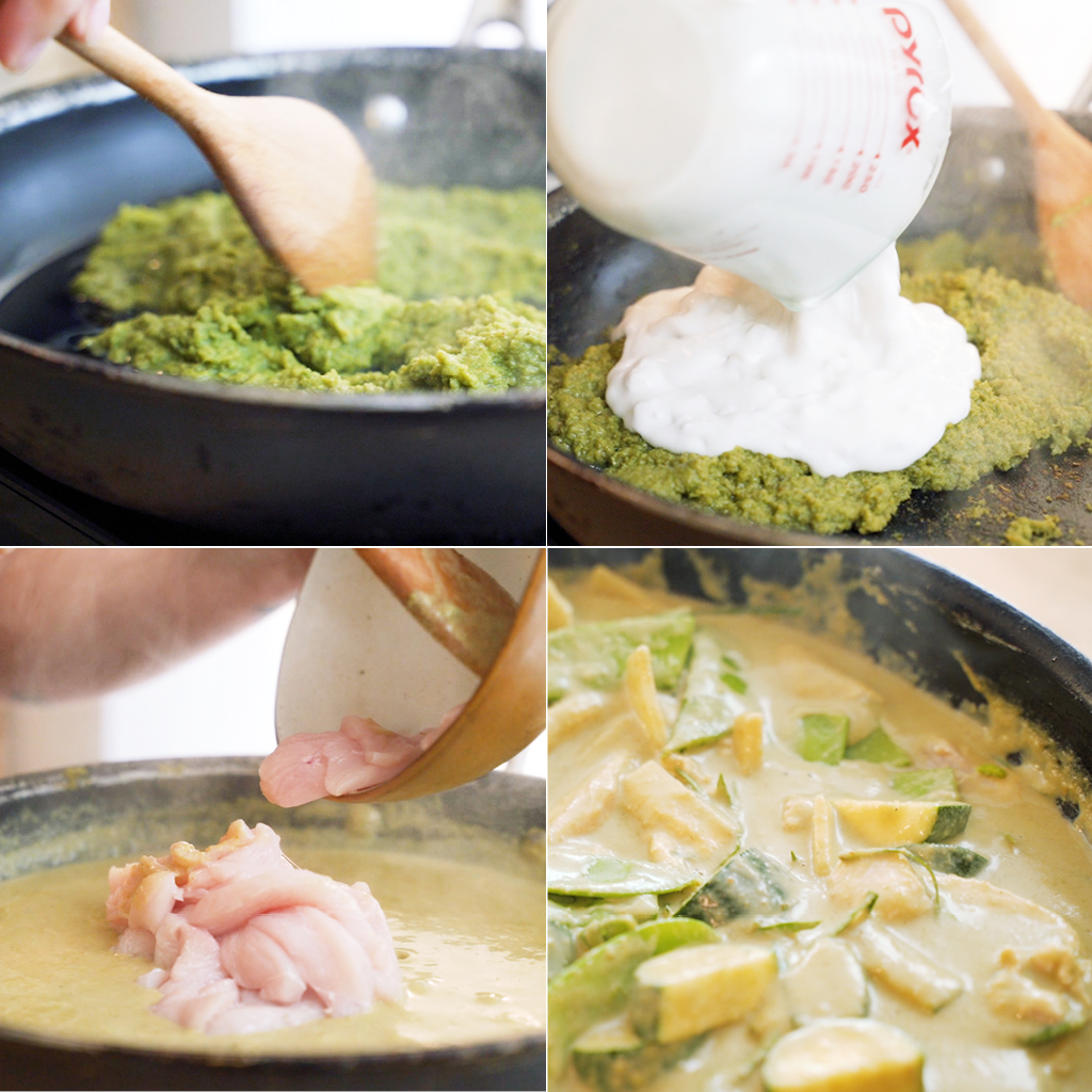 green curry chicken steps