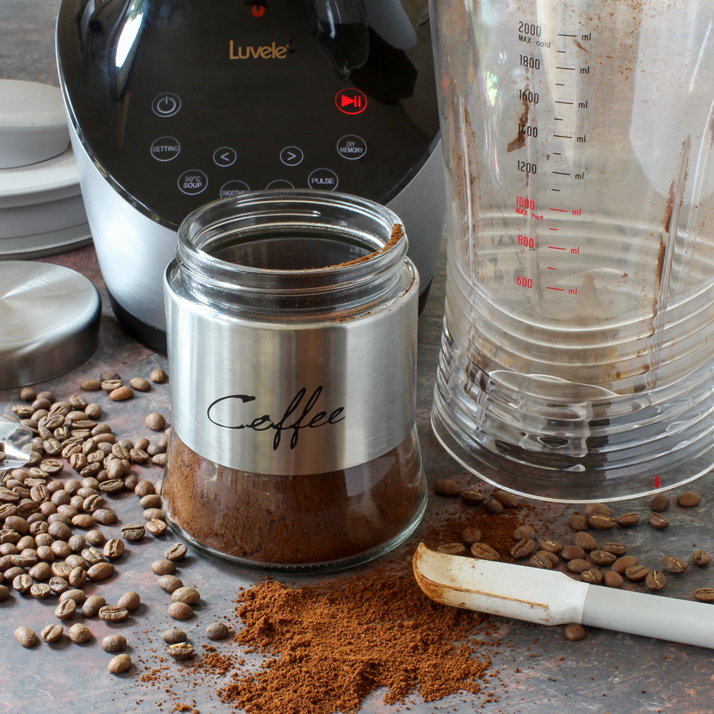 how to grind coffee in the blender