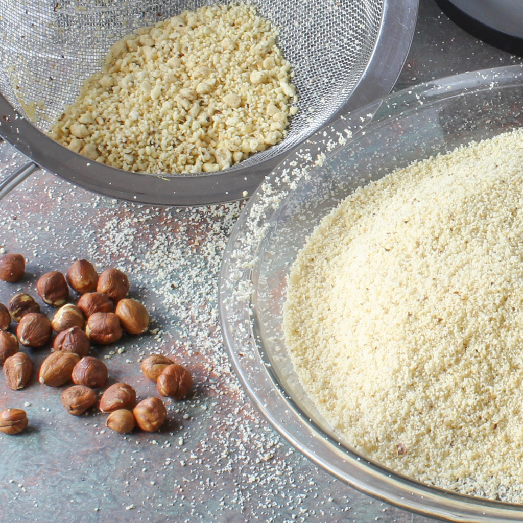 homemade hazelnut flour