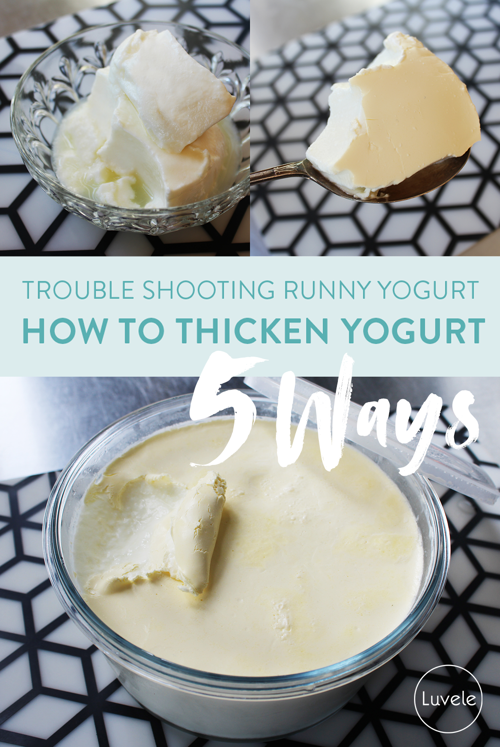 5 ways to thicken homemade yogurt