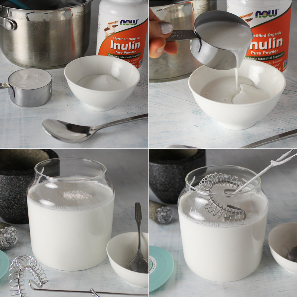 making step by step L.Reuteri coconut yogurt