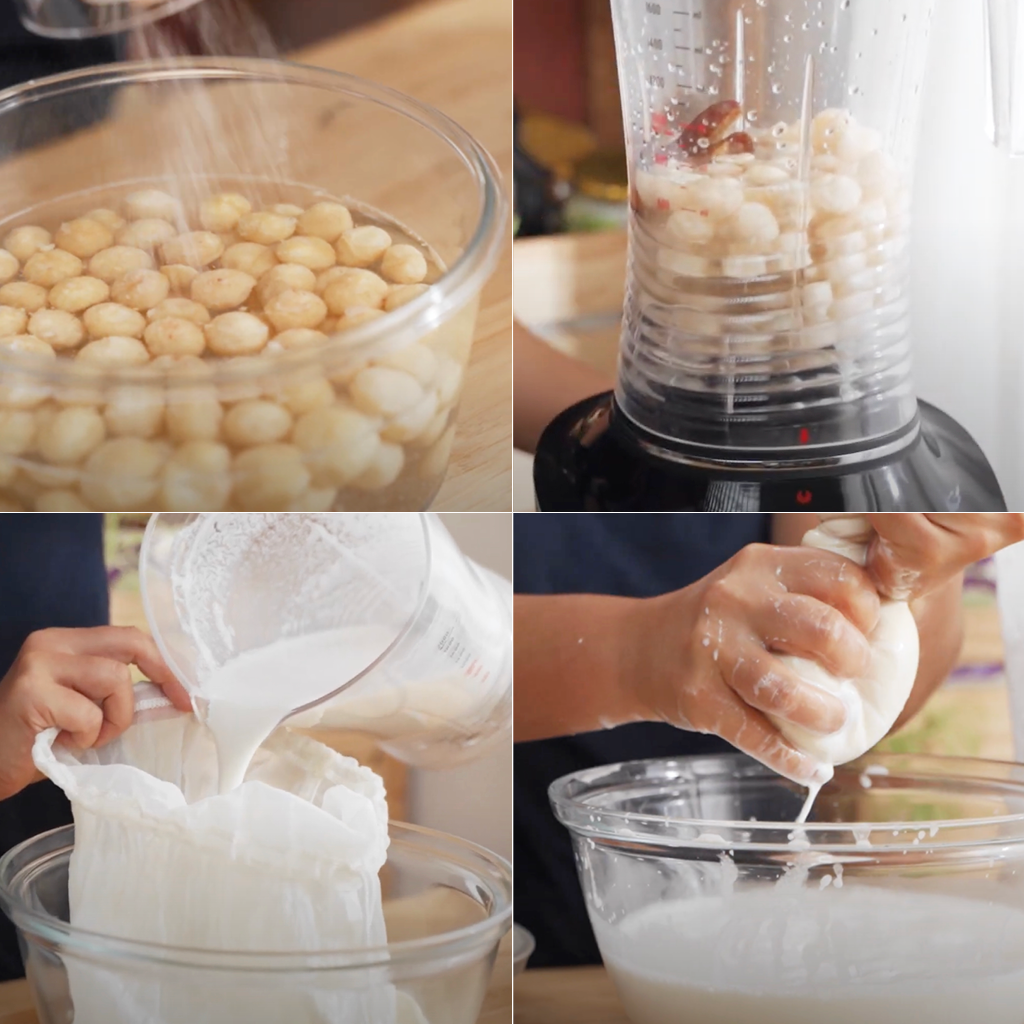 how to make macadamia nut milk