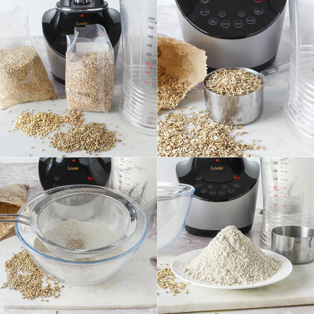 grinding grains - step by step