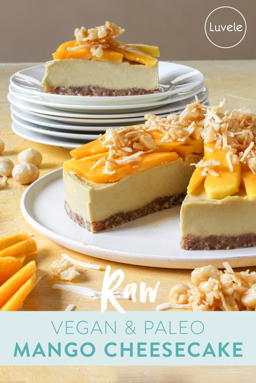 vegan and paleo mango cheesecake