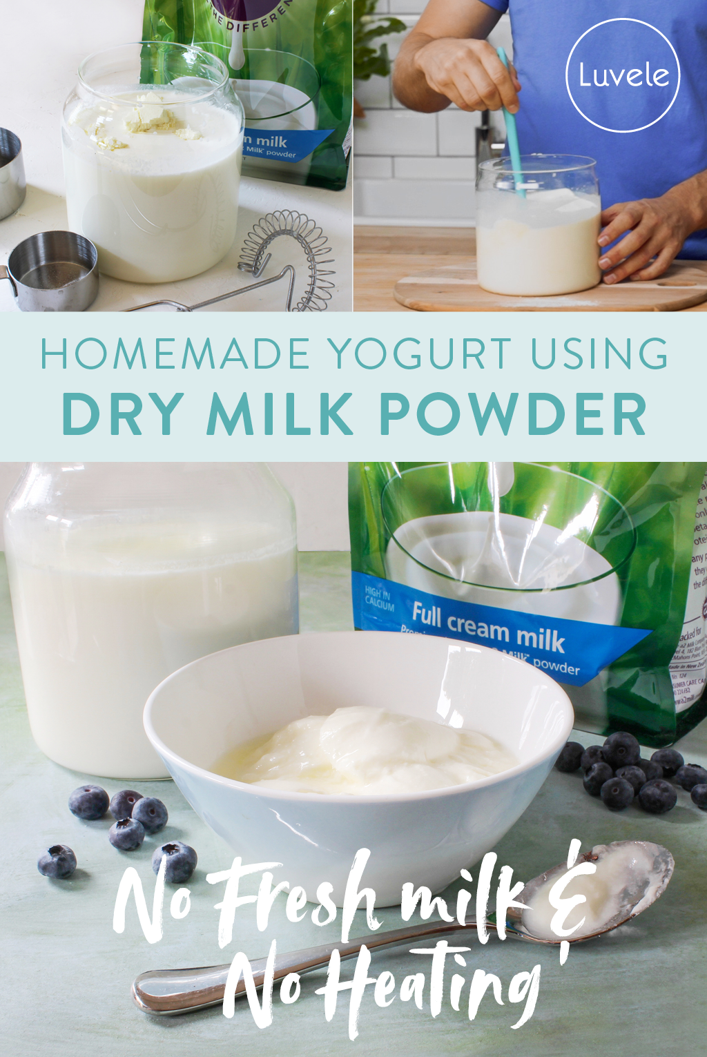 Dry milk powder homemade yogurt
