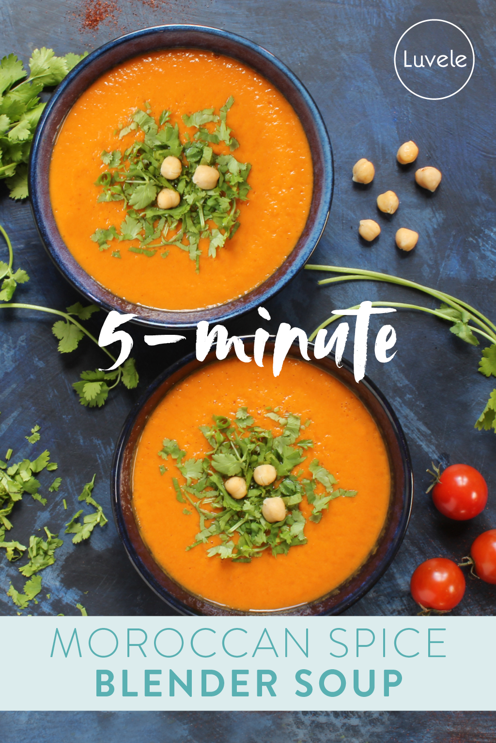 Moroccan spiced chickpea blender soup