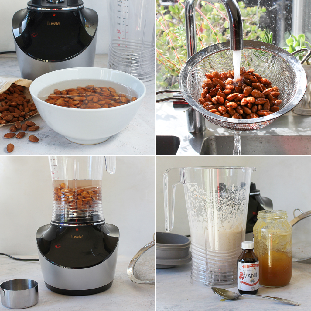 making nut milk step by step