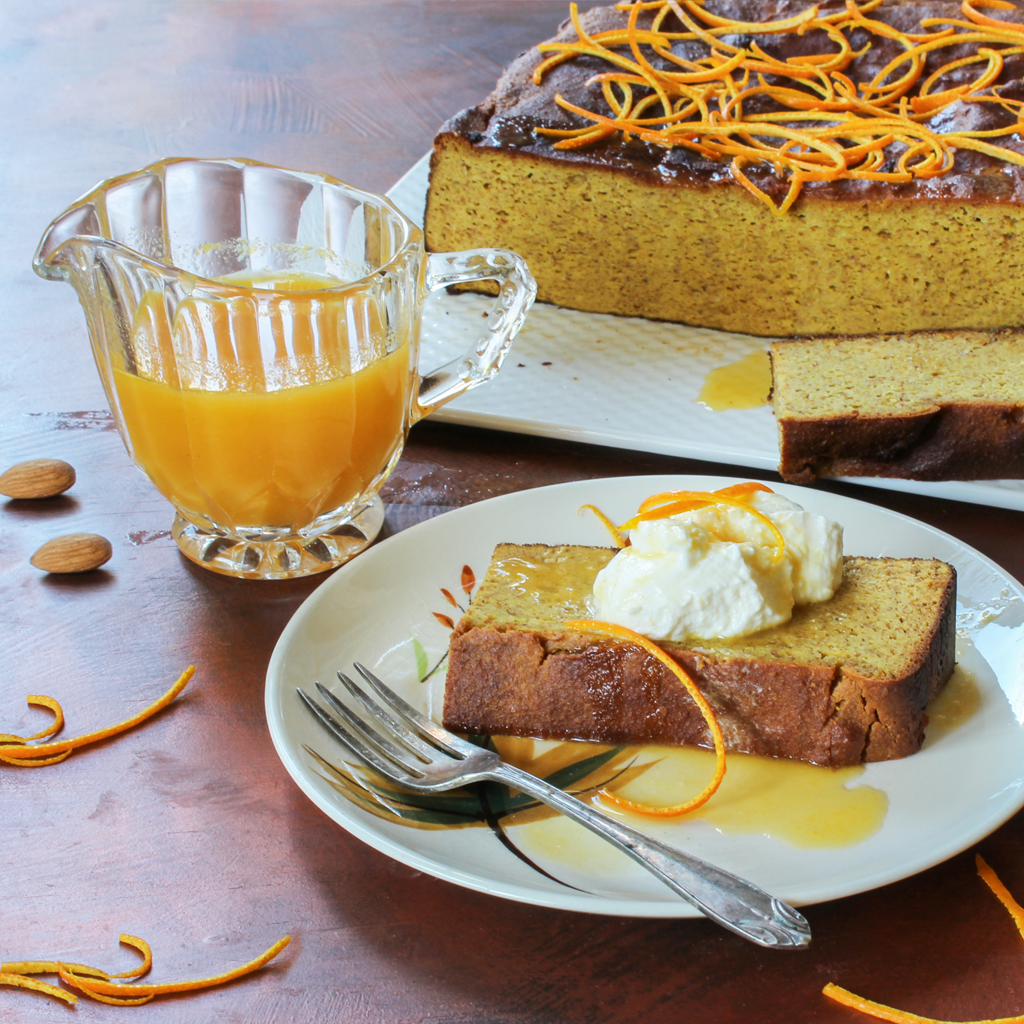 orange and almond syrup cake