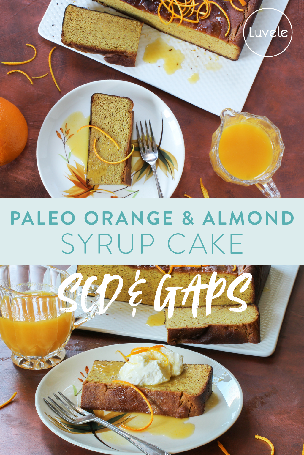 paleo orange and almond syrup cake