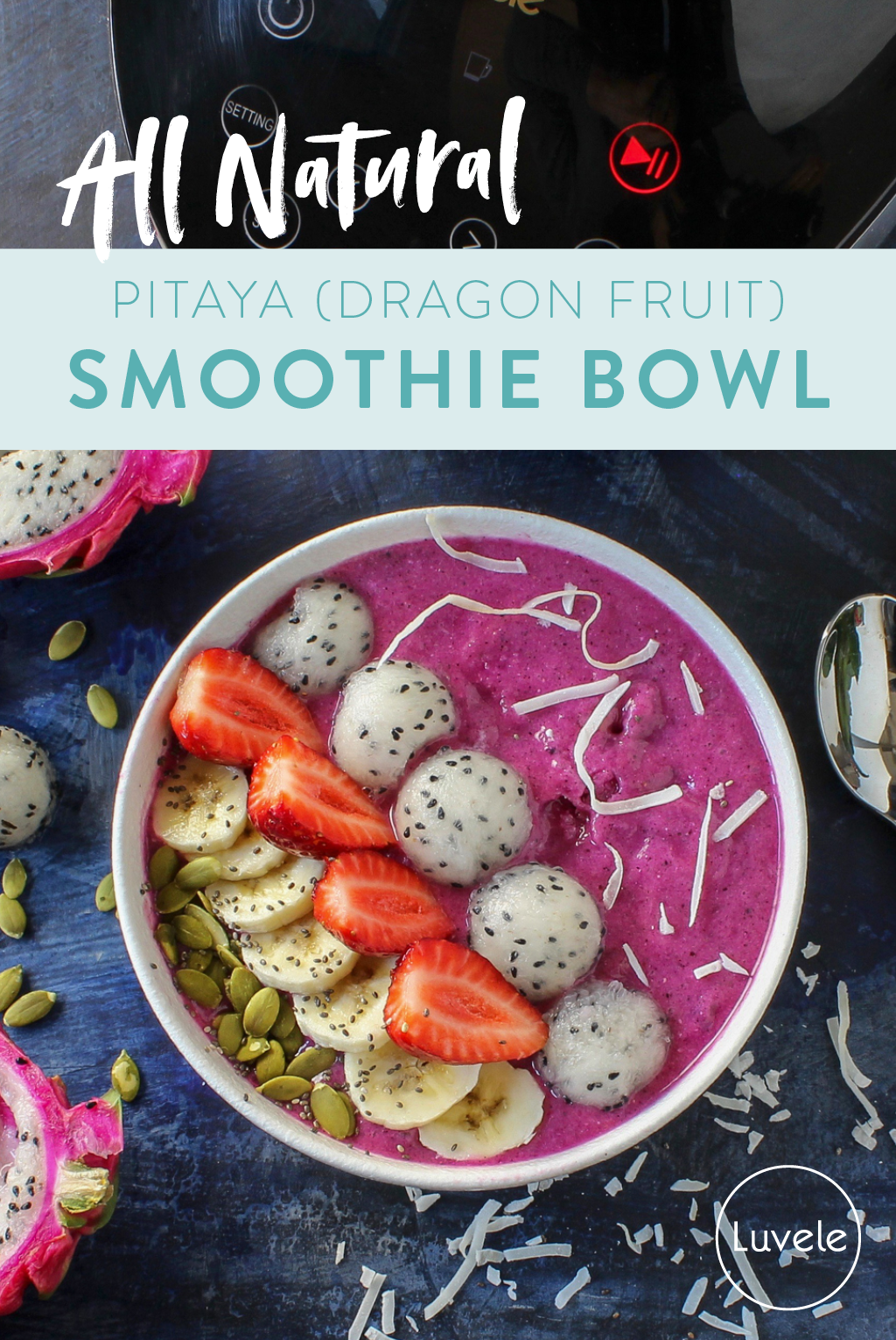 pitaya dragon fruit smoothie