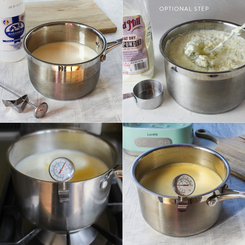 ProGood Probiotic homemade yogurt making steps