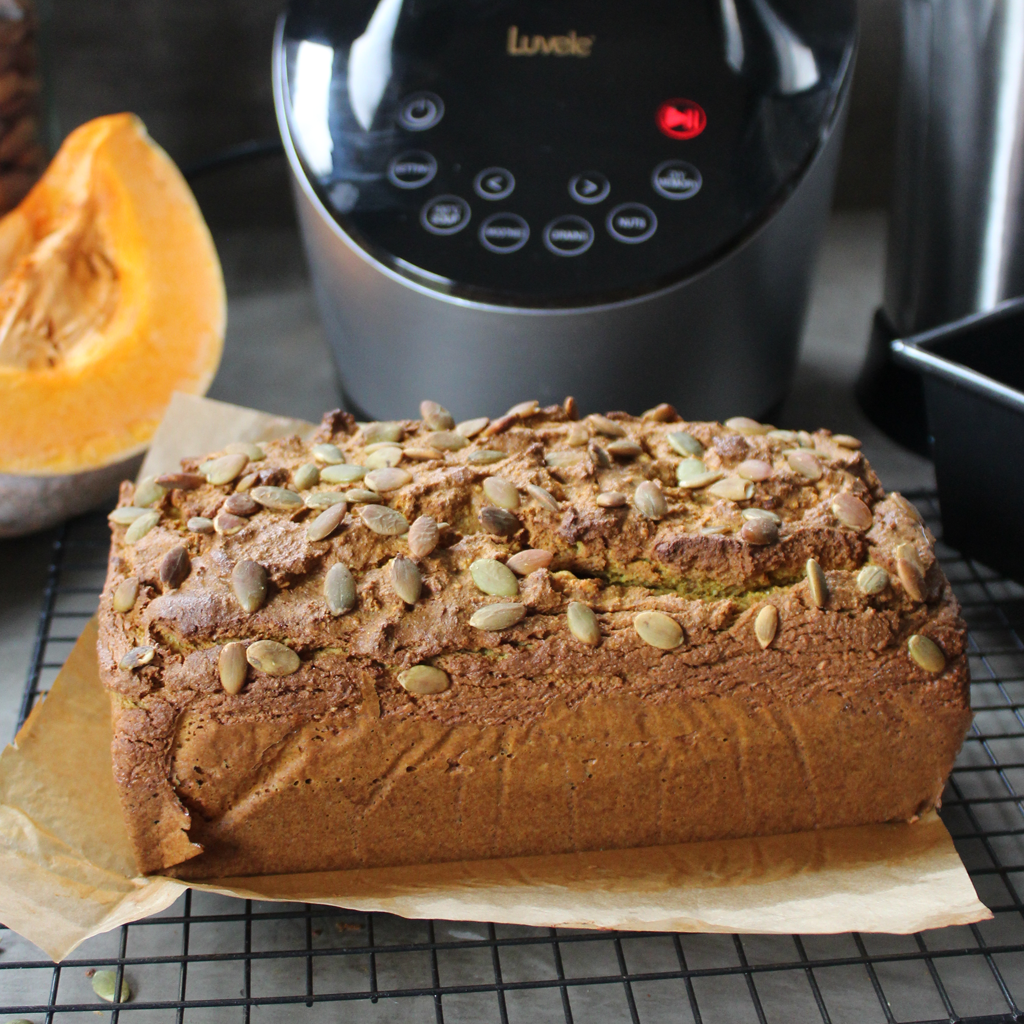 paleo pumpkin and turmeric bread