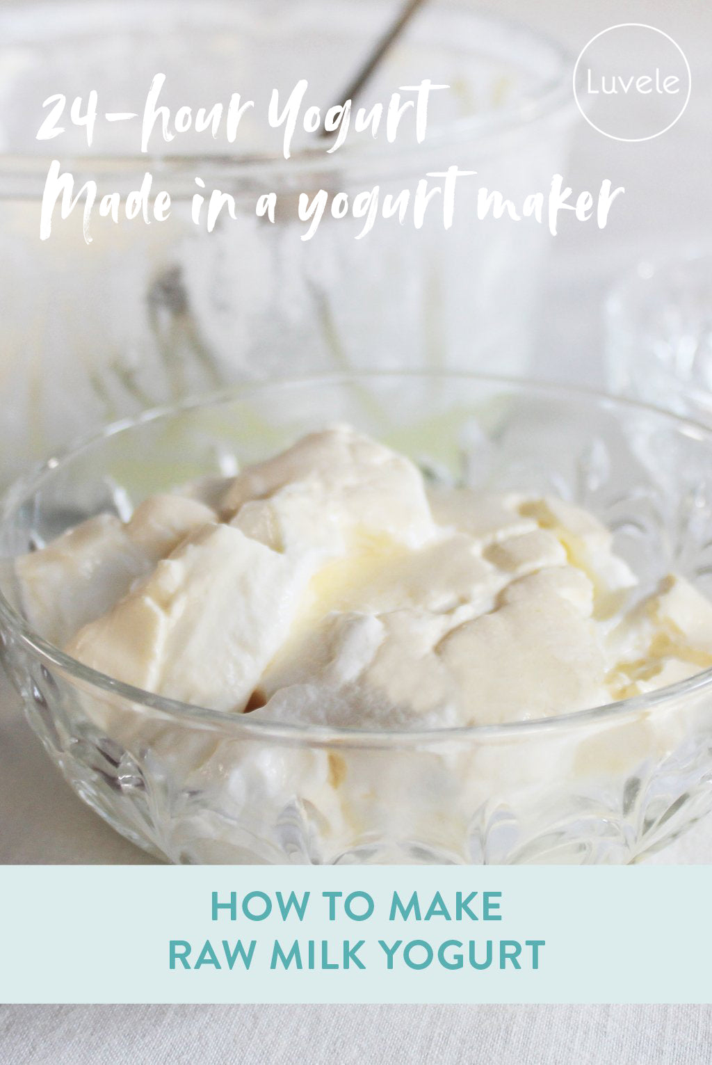 homemade raw milk yogurt