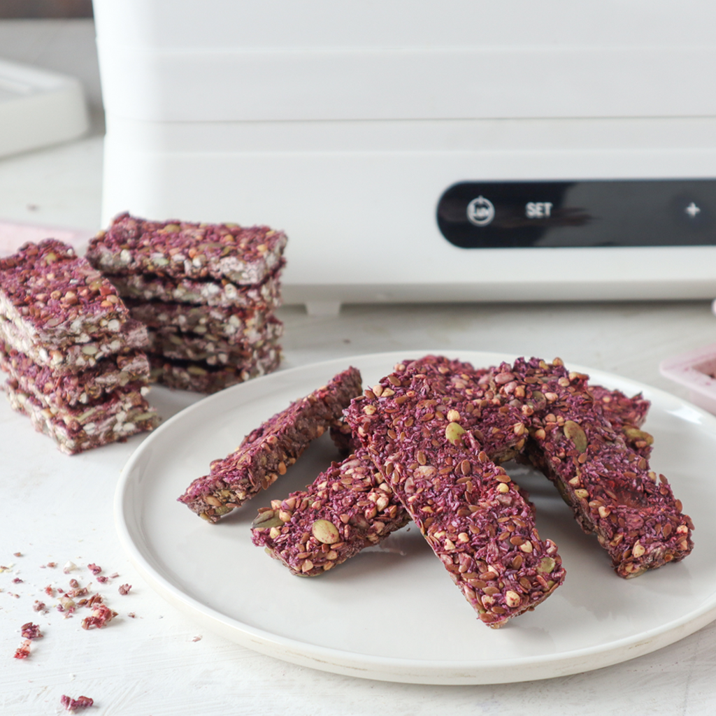dehydrated strawberry & seed bars