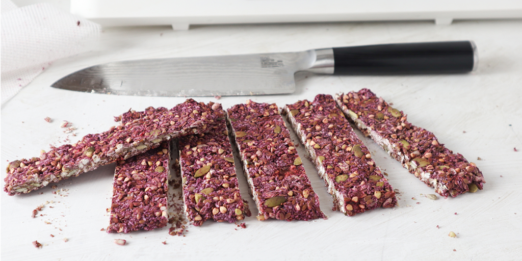 dehydrated strawberry and seed bars