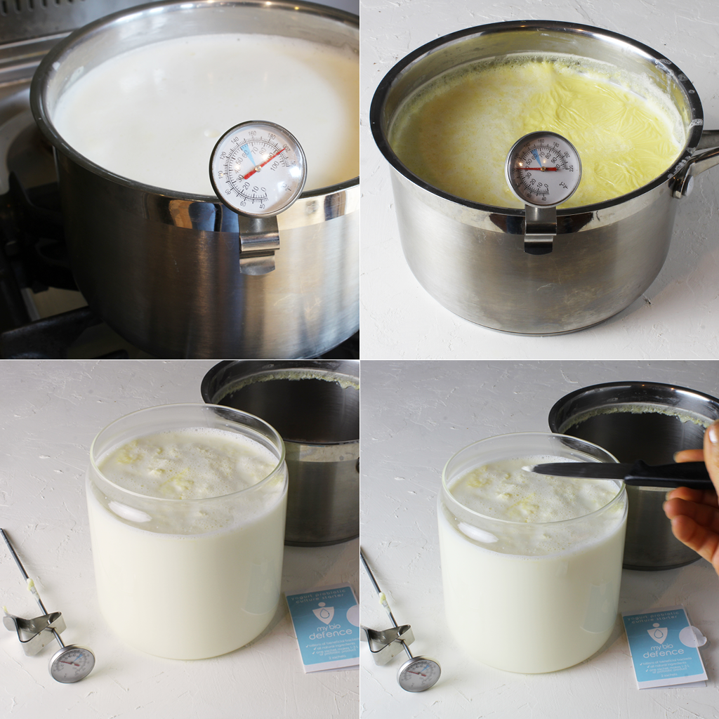 making homemade yogurt