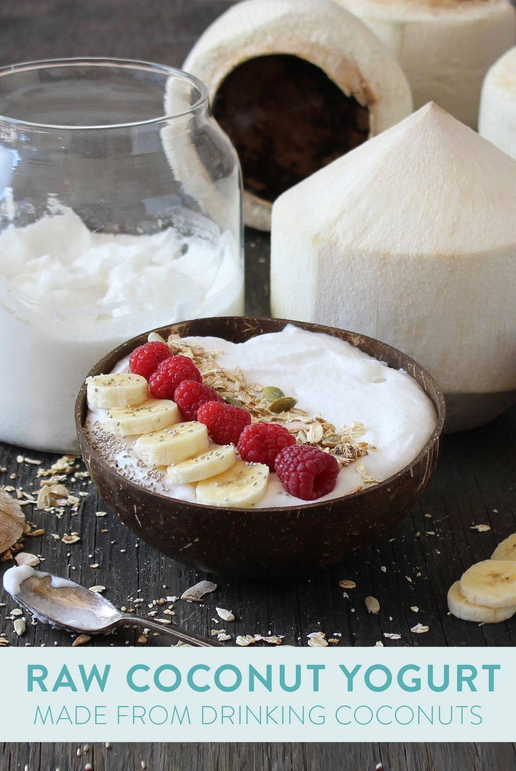 raw coconut yogurt