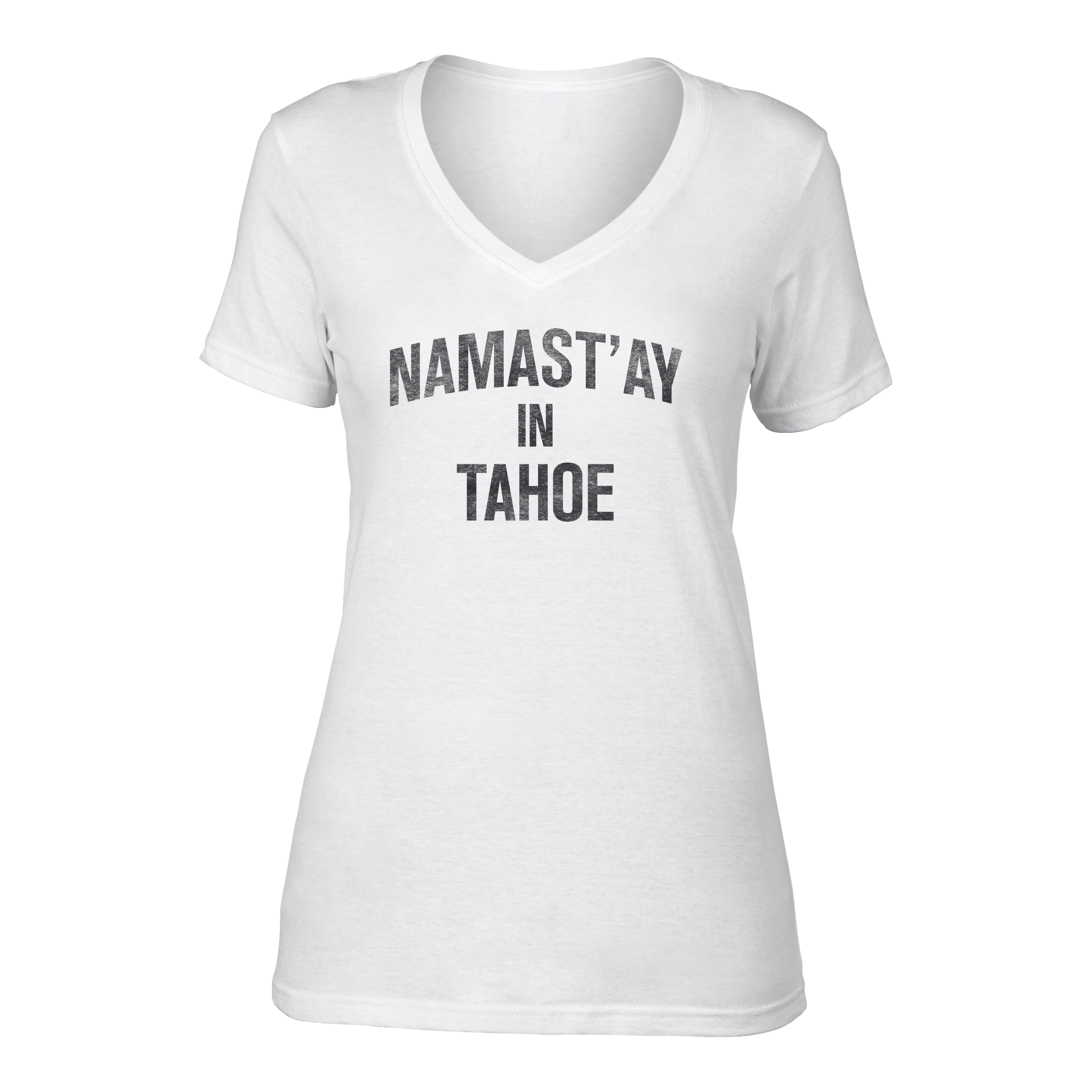 W's Namast'ay in Tahoe Hemp Blend V Neck