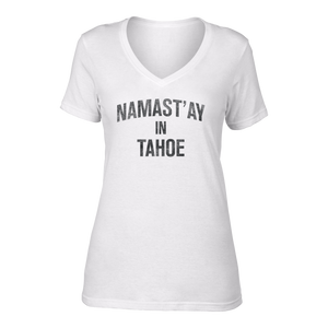 Women's Namast'ay in Tahoe Hemp Blend V Neck