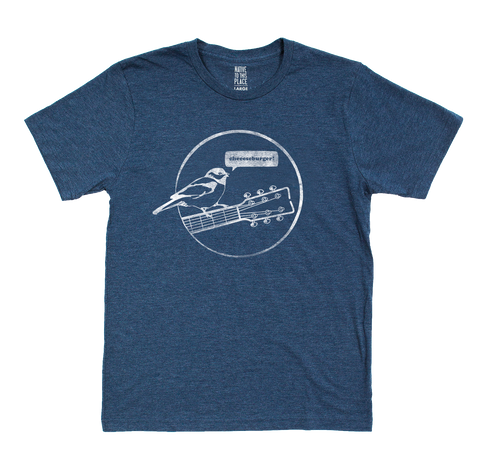 Toddler Navy Mountain Chickadee Eco T-Shirt