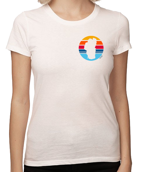 Women's Rainbow Tahoe Sun T-Shirt in Vintage White