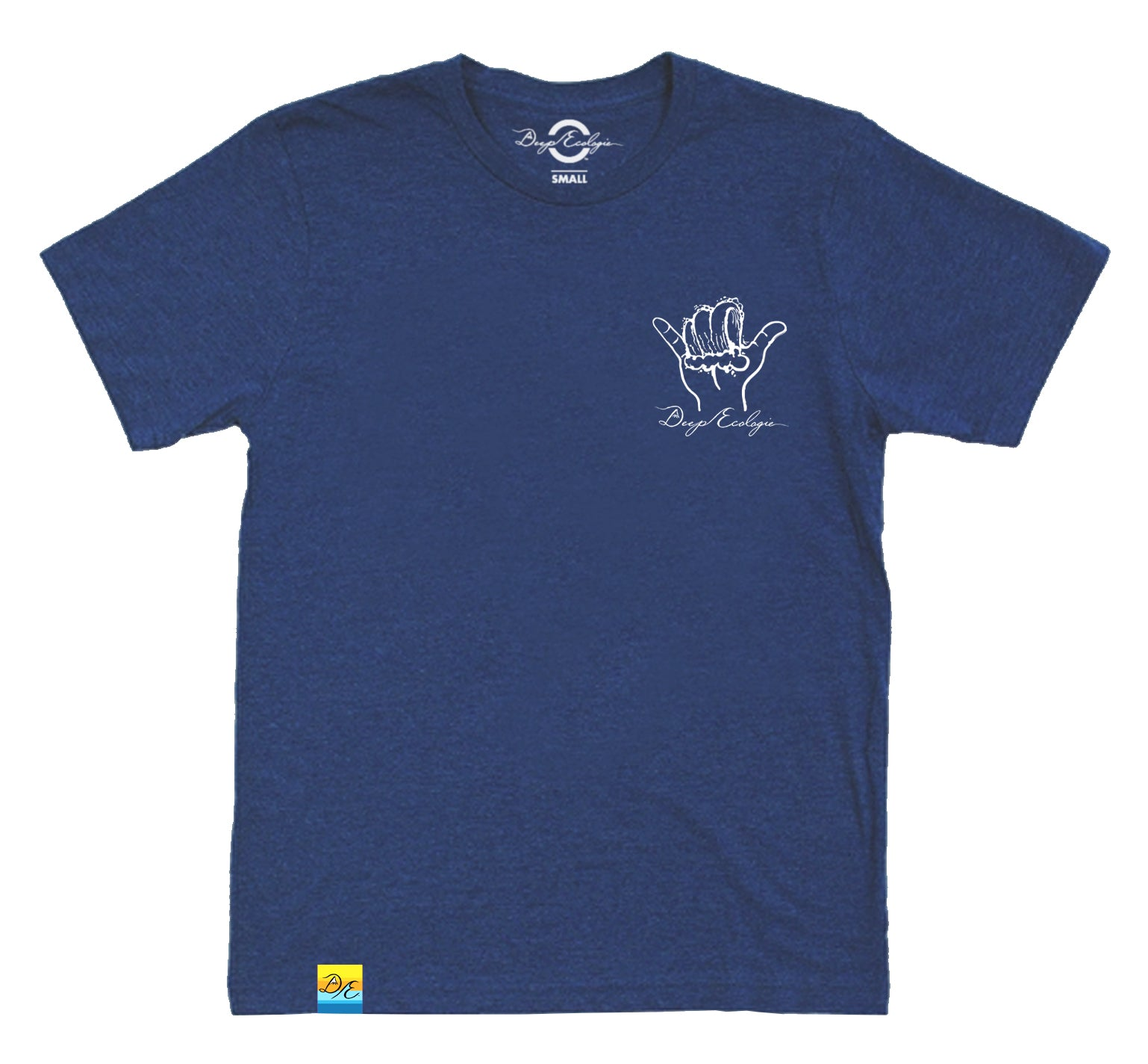 Navy Eco Blend Shaka Wave Tee