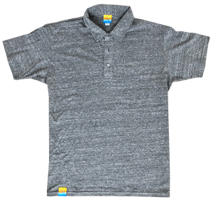 Sun Washed Grey Eco Polo
