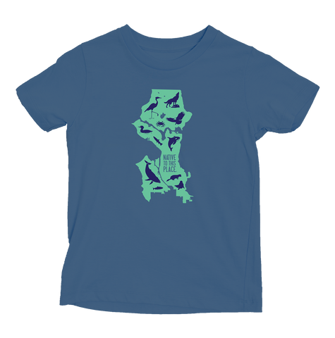 Kid's Seattle Wildlife Organic Cotton T-Shirt