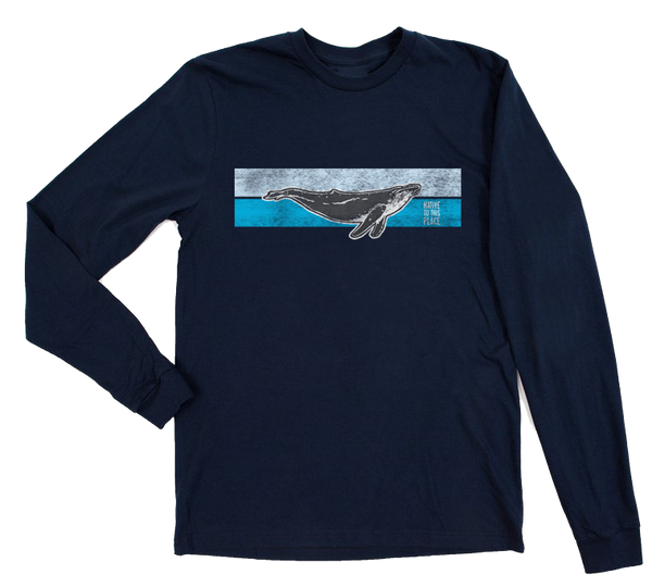 Unisex Striped Whale Organic Cotton Long Sleeve