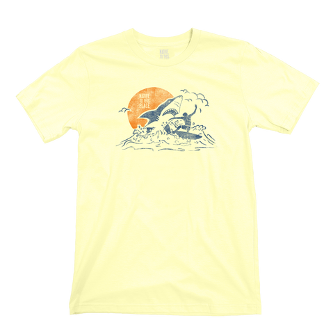M's Great White Shark Surfer Organic Cotton T-Shirt