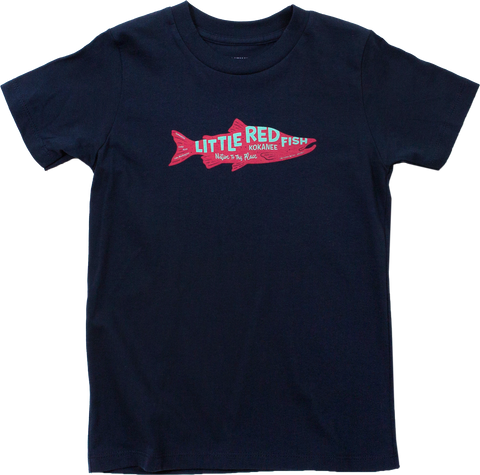 Kid's Little Red Fish Organic Cotton T-Shirt