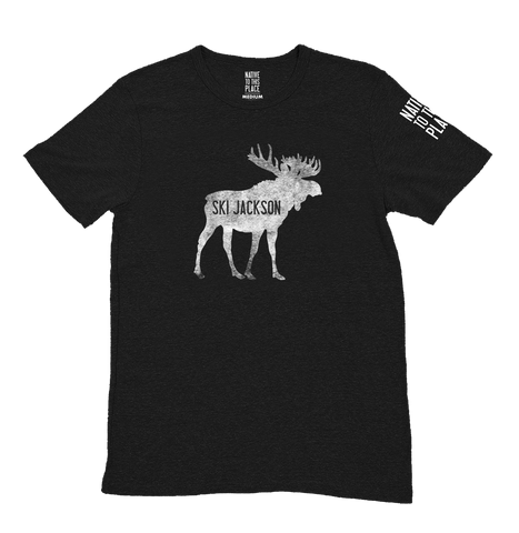 Kid's Ski Jackson Moose Eco Tri-Blend T-Shirt