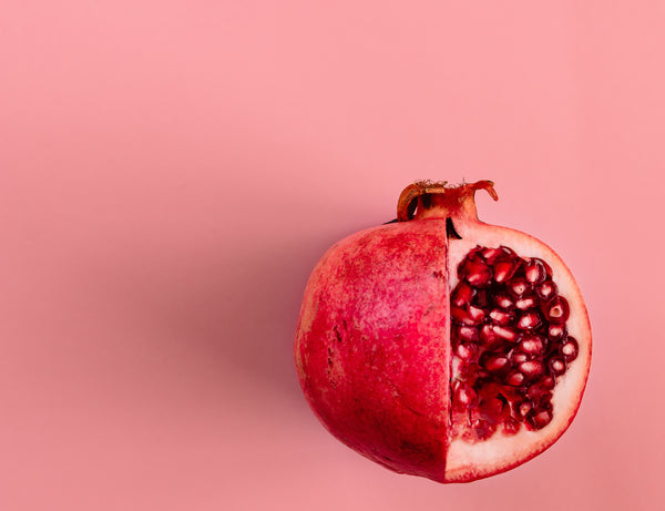 pomegranate fruit cut open