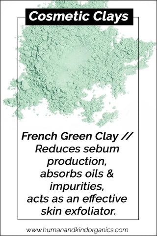 cosmetic clays for face masks