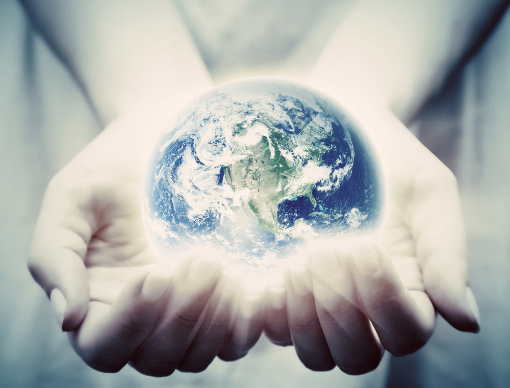 hands holding a globe of the world