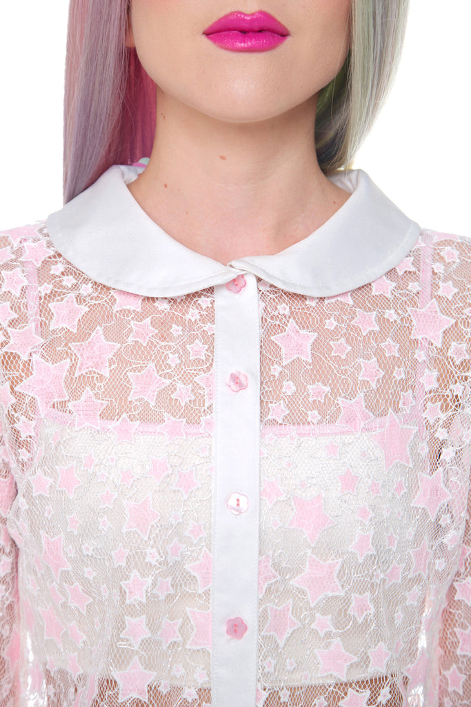 Starry-Eyed Sheer Blouse