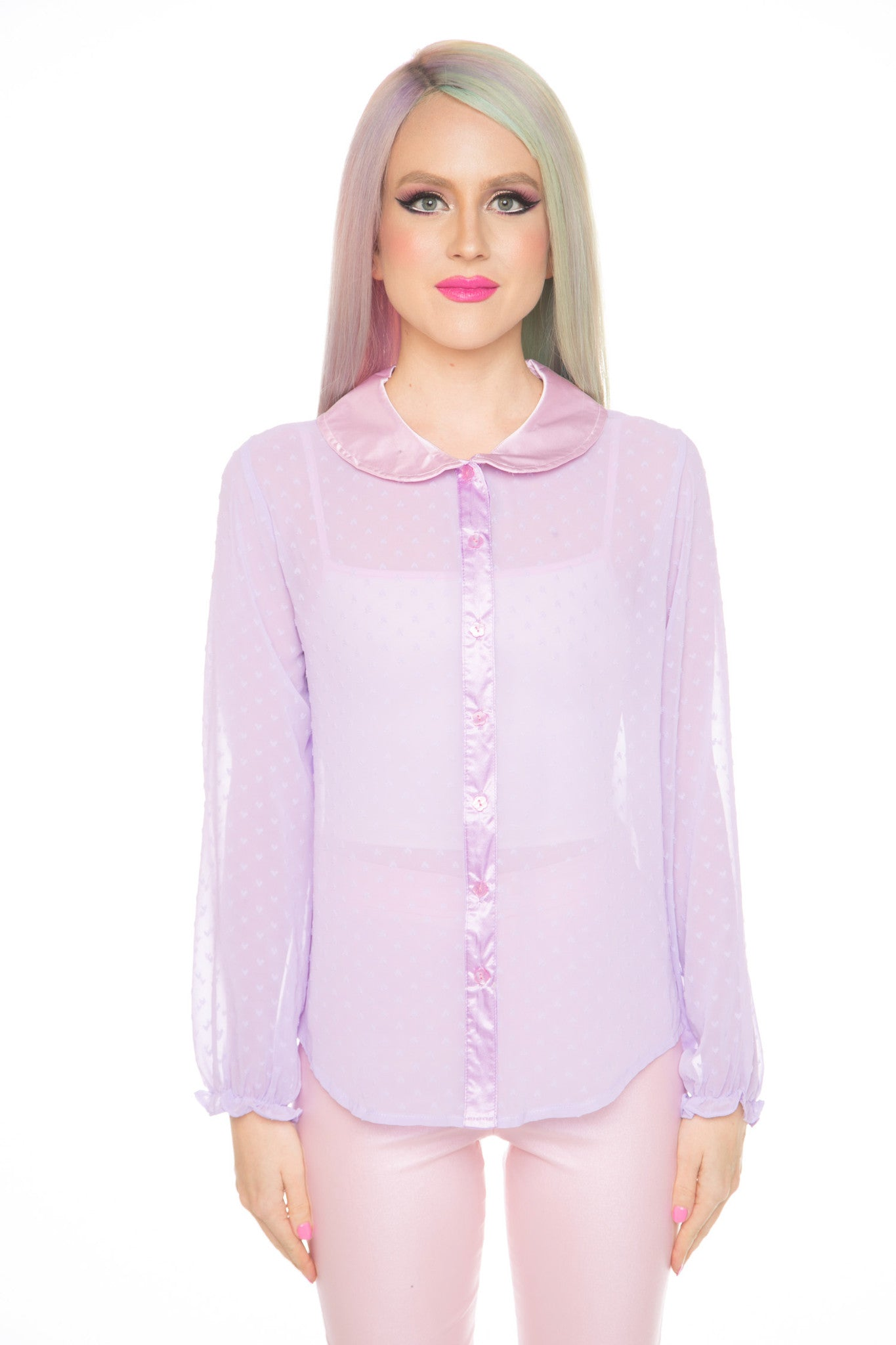 Babydoll Sheer Blouse