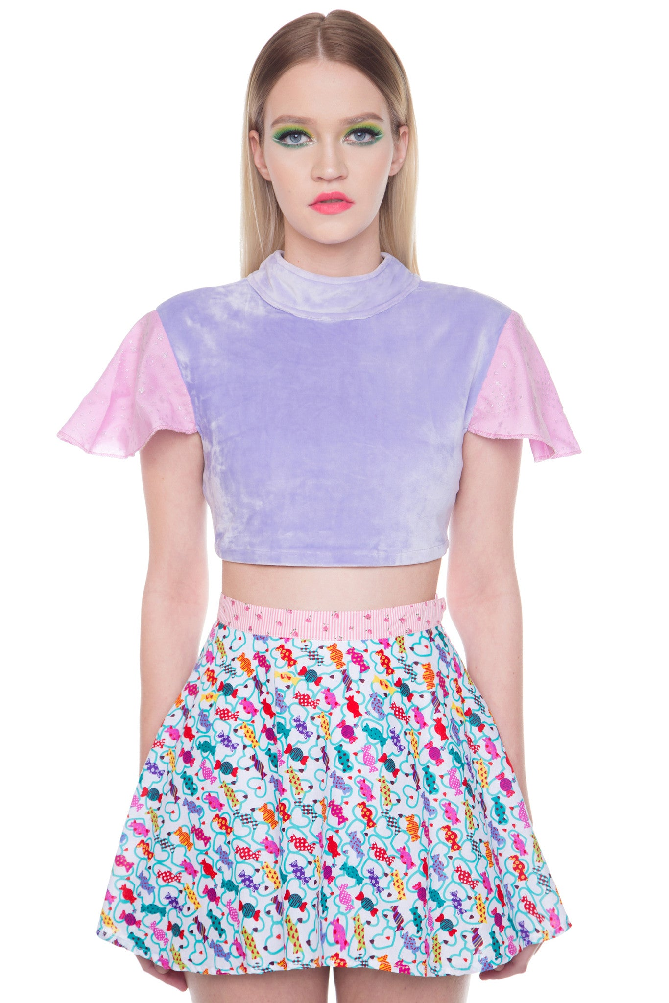 Flutter Sleeve Crop Top